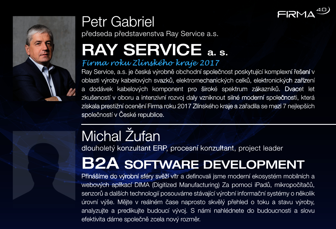 Petr Gabriel (RAY SERVICE) + Michal Žufan (B2A SOFTWARE DEVELOPMENT)
